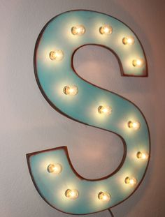 16 Vintage Marquee Letter or Number Lighted Wood... A B C D E F G H I J K L M N O P Q R S T U V W X Y Z. $59.90, via Etsy.