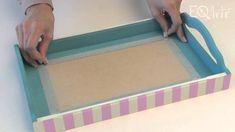 Como realizar decoupage con servilletas y aplicación de vidrio liquido? Eq Arte - YouTube