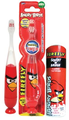 Firefly Angry Birds products coming soon in the market. Its a great product which will get our kids to brush their teeth without us having to run behind them. They will love it so much, they will use the flashing firefly angry birds brush on their own day and night and keep themselves healthy without us having to bother about their oral hygiene. Love it... Can't wait to have it in my hands :)