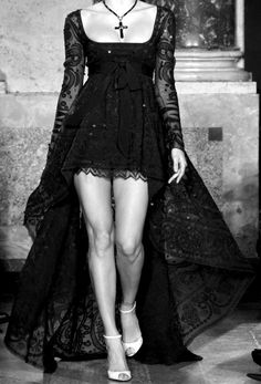 wrong shoes but dress is awesome
