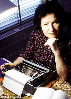 P.D. James at her writing desk in 1980.