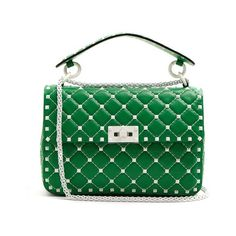 b437a9dd2f Valentino Free Rockstud Spike quilted-leather shoulder bag (75 715 UAH) ❤  liked on Polyvore featuring bags