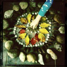 making mandalas ☁little moon & babe rainbow☁: woodland offerings