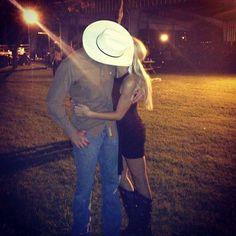 Country couple with country kisses