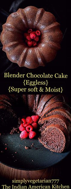 Blender Chocolate Cake {Eggless, Easy, Super Soft & Moist} #egglesscake #easycake #chocolatecake #eggfreechocolatecake