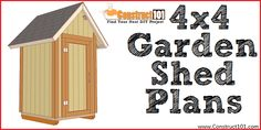 Free shed plans include gable, gambrel, lean to, small and big sheds. These sheds can be used for storage or in the garden. Free how to build a shed guide. 10x10 Shed Plans, Small Shed Plans, Shed Design Plans, Shed House Plans, Lean To Shed Plans, Wood Shed Plans, Free Shed Plans, Shed Building Plans, Storage Shed Plans