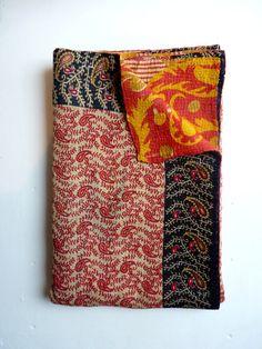 kantha quilt // vintage throw blanket // kantha blanket