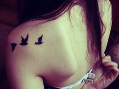 Birds on a shoulder. looking for ideas for a tattoo of my favorite Beatles song