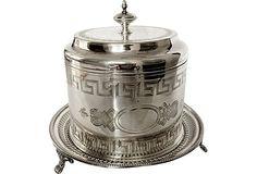 Victorian Silver Biscuit Box