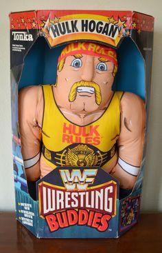 WWF Wrestling Buddies Hulk Hogan Mixed Wrestling, Wrestling Wwe, Retro Toys, Vintage Toys, Wwe Toys, Wrestling Superstars, Wwe Wallpapers, Hulk Hogan, Childhood Days