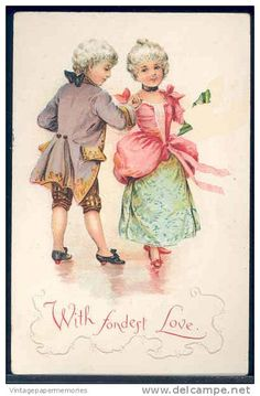 with fondest love ...cute postcard