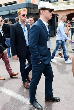 Benedict Cumberbatch (GBR) actor. Formula One World Championship, Rd6, Monaco Grand Prix, Race, Monte-Carlo, Monaco, Sunday, 25 May 2014