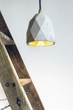 Hängelampe Beton ausgefallene Leuchte Lampe [T1]  from GANT lights by DaWanda.com