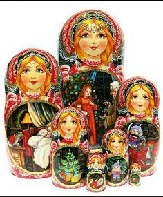 Matryoshka Story Nesting Dolls The Nutcracker Fairytale.