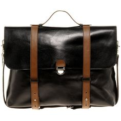 Fancy - Leather Satchel by Asos
