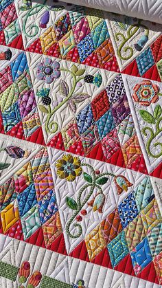 The quilting and colors are beautiful.