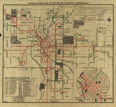 Official Route Map of the Denver Tramway Corp. :: University Park Neighborhood