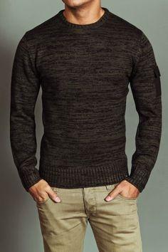 dark brown sweater. JACK THREADS. light khaki jeans. awesome. comfortable. style. | Raddest Men's Fashion Looks On The Internet: http://www.raddestlooks.org #mensshoes