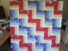 Double rail fence quilt pattern and tutorial from Ludlow Quilt and Sew