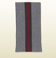knit jacquard scarf with web detail