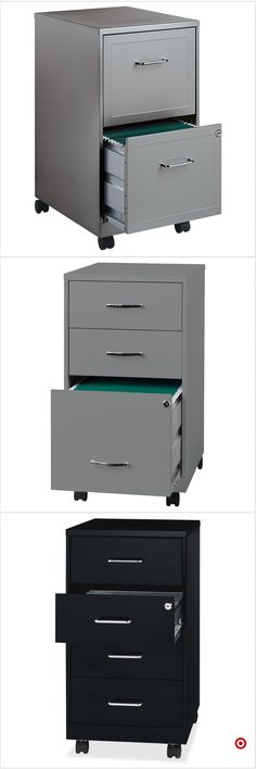 Shop Target for vertical filing cabinet you will love at great low prices. Free shipping on orders of $35+ or free same-day pick-up in store. Shed Office, Home Office Space, Office Workspace, Home Office Decor, Under Desk Storage, Office Storage, Dorm Desk Organization, Organizing, Comfy Bedroom