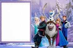 Frozen invite template
