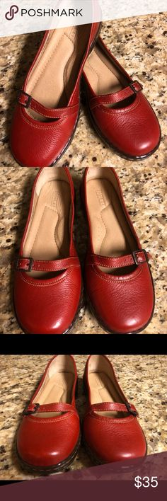 aa398591b305e Ladies Red Comfort Born Mary Jane Flat Shoes 8.5 M These shoes are so  gorgeous.