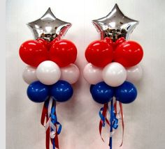 4th of July balloon bouquet