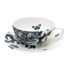 Absolutely beautiful!  Elinno Design, 'Blue Peony' Blue Peonies, Caramel Color, Chocolate Coffee, Christmas Is Coming, Dear Santa, Peony, Make It Simple, Tea Cups, Black And White