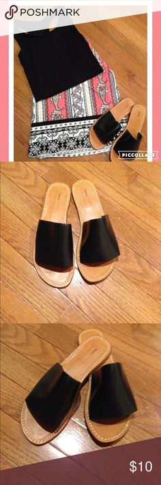 BEAUTIFUL SUMMER SANDALS Beautiful Summer Sandal, very chic and sassy. Wear it with your favorite jeans, shorts, mini skirt or dress or with your Maxi skirt. 100% Buff Leather upper. Leather in Sole. Leather sole. New never worn. BDC Shoes Sandals