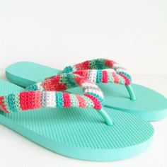 Fabulous Flip Flops Crochet Pattern (FREE) - http://pinterest.com/Allcrochet