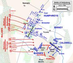 Gettysburg Map, Gettysburg Battlefield, Pickett's Charge, Peach Orchard, Valley Of Death, Gettysburg National Military Park, Civil War Books, Potomac River, Union Army