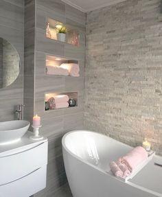 Dream Bathrooms, Beautiful Bathrooms, Small Bathroom, Bathroom Pink, Dream Home Design, Home Interior Design, House Design, Bathroom Design Luxury, Modern Bathroom Design