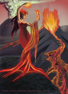 "Elements Fire:  ""Dance of Creation: Fire Goddess,"" by faerywitch, at deviantART."