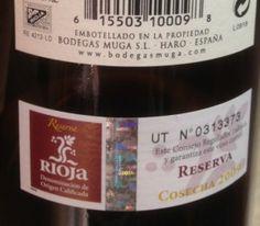 2009 Muga Reserva-back label