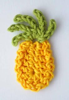 Crochet pineapple applique free pattern