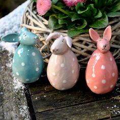 For Easter: pottery Keramik Frühling/Ostern Homemade Muesli, Potpourri, Diy Crafts To Sell, Clay Art, Easter Crafts, Creations, Pottery, Crafty, Christmas Ornaments