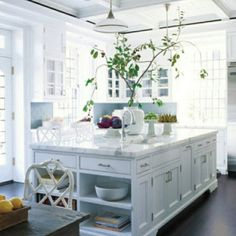 kitchen white cabinets light granite - Google Search