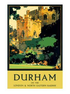 I love these old railway posters. Gary used to take the train to Durham to visit me - way back when...