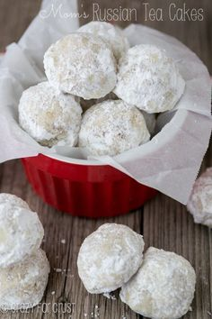 These are my mom's famous Russian Tea Cakes! They're perfect for your holiday platter!
