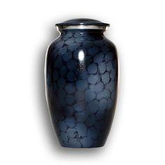 Blue Cremation Urn http://www.gatecitycremations.com/urns-and-keepsakes/