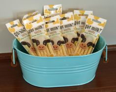 milk and cookie party: flavored straw packs for party favors