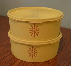 Set of Two Vintage Tupperware Canisters