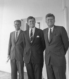 Robert, Teddy and John Kennedy