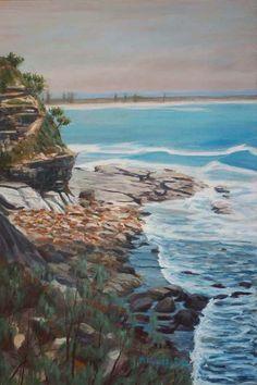 Moffats Head 91x61cm Seascape Paintings, Landscape Paintings, Painter Artist, Classic Paintings, Sunshine Coast, Australian Artists, Still Life, Gallery, Water