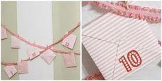 square envelope advent garland