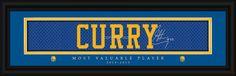 "Golden State Warriors Stephen Curry Print - Signature 8""x24"""