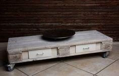 Lowboard im Shabby-Style aus Europaletten weiß