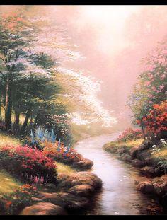 Petals of Hope. Painted by Thomas Kinkade. http://www.thomaskinkade.com/magi/servlet/com.asucon.ebiz.catalog.web.tk.CatalogServlet?catalogAction=Product&productId=313&menuNdx=0