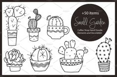 Small Garden & Coffee Shop by beerjunk on @creativemarket